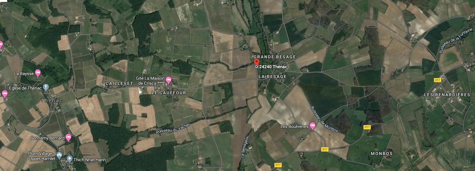 Le Petit Bois Martin map